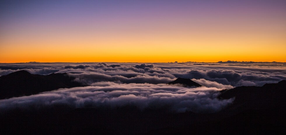 On Top of the Clouds Maui Upcountry Haleakala Sunrise